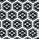 RKAW10558 Mon Crest Pattern Black - Hanko Designs