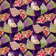 RKB7736 Golden Swaying Fans Purple Japanese Washi Paper - Hanko Designs - www.HankoDesigns.com 2014