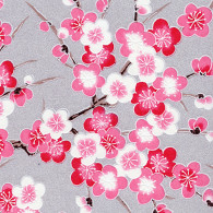 RKBH50 Pink Plum Blossom Branches Japanese Washi Paper - Hanko Designs - www.HankoDesigns.com 2014