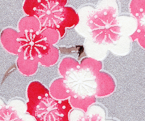 RKBH50 Pink Plum Blossom Branches Japanese Washi Paper - Hanko Designs - www.HankoDesigns.com 2014