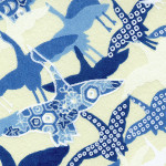 RKBM031 Aizome Blue Flying Cranes Washi - Hanko Designs