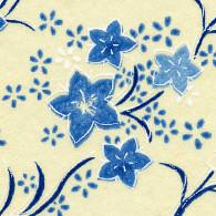RKBMo39 Blue Kikyou Blossoms Japanese Washi Paper - Hanko Designs - www.HankoDesigns.com 2014