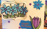 Daisy & Tulip Pivot Card - www.HankoDesigns.com 2014
