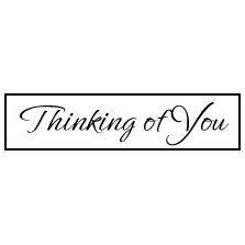 HG208 Thinking Of You Stamp Image - Hanko Designs - www.HankoDesigns.com - 2014 Release