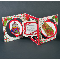 8006 Christmas Cupcake Accordion Card - Karen Swemba - Hanko Designs www.HankoDesigns.com 2014