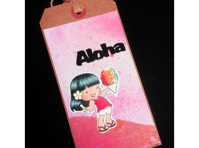 7003 Shave Ice Anuhea Tag Card - Sister Stamps