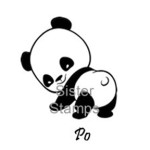 SS0079 Po Panda Bear Stamp - Sister Stamps 2014 - Sold by Hanko Designs