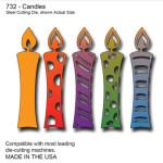 SECD0732 Candles Die - www.HankoDesigns.com 2014