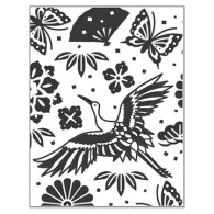 SECF723629 Bird of Paradise Embossing Folder - www.HankoDesigns.com 2314 Swan Crane