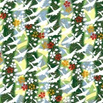 RKB7492 Green Spring Flying Crane Washi Paper