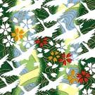 RKB7492 Green Spring Flying Crane Washi Paper - www.HankoDesigns.com - Orizuru Swan