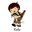 SS0083 Kaleo w/ Ukulele Sister Stamps unmounted rubber stamps - www.HankoDesigns.com March 2015 Boy Crane Taiko Release 27