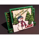 8015 Karen Swemba 2015 Card Snowman Greetings Christmas