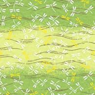 RTB9064 Green Dragonfly Field Washi Paper Bulk 8.5 x 11 www.HankoDesigns.com 2015