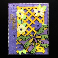 8011 Karen Swemba butterfly lattice trellis Card 2015