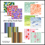 2015 Spring Washi Paper combo set RSPRING2015