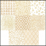 PC206 White Two Tone Washi Sampler Paper