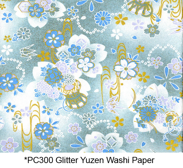 PC300 Glitter Yuzen Washi Paper 2015 Hanko Designs