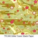 PC300 Glitter Yuzen Washi Paper