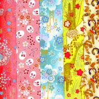 PC301 9 x 12 Glitter Yuzen Washi Assortment Sheets 2015 Hanko Designs