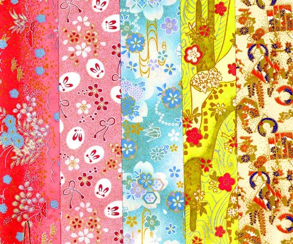 PC301 9 x 12 Glitter Yuzen Washi Assortment Sheets 2015 Hanko Designs