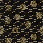 PC305 Assorted Black Yuzen Origami Washi Paper