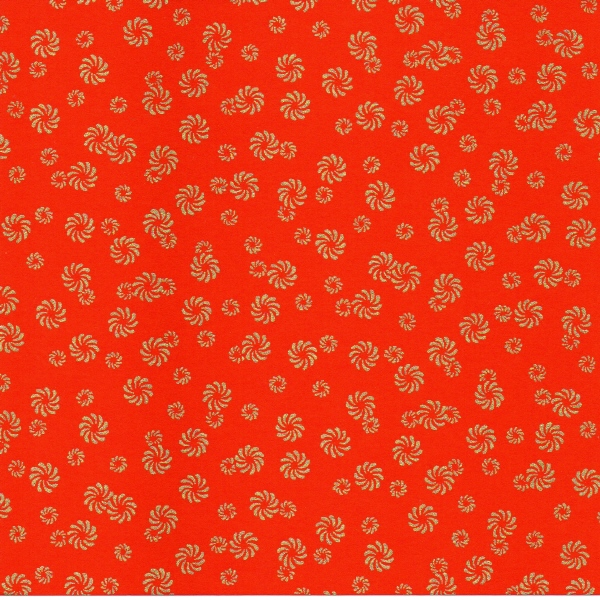 PC307 Red Washi Paper Hanko Designs