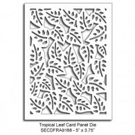 SECDFRA9168 Tropical Leaf Card Panel Die 2015 Summer Lori Picks