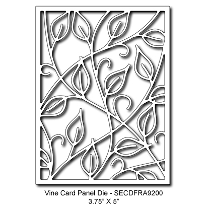 SECDFRA9200 Vine Card Panel Die 2015 Summer Lori Picks