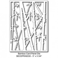 SECDFRA9330 Bamboo Card Panel Die 2015 Summer Lori Picks