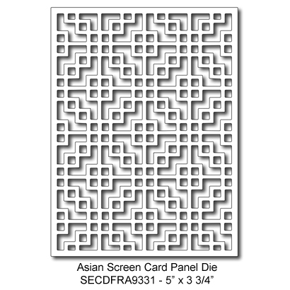 SECDFRA9331 Asian Card Panel Die 2015 Summer Lori Picks