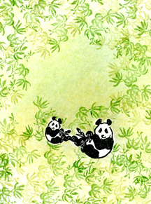 Bamboo Panda tapestry Stamps - Lori Picks 11-2017