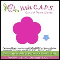 SDWC006 Ume Plum Blossom Background Die Wiki CAPS 2015 www.HankoDesigns.com