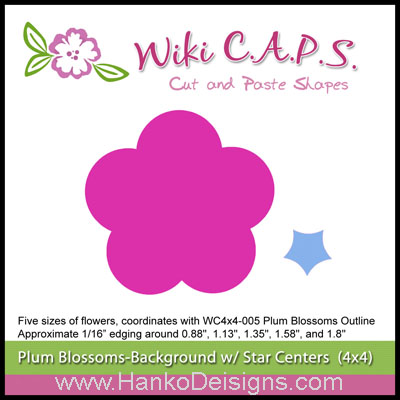 SDWC006 Ume Plum Blossom Background Die Wiki CAPS 2015 www.HankoDesigns.com