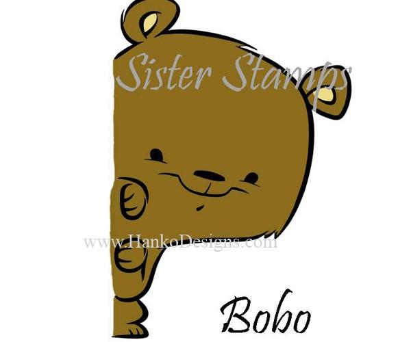 SS0095 29 Bobo Peeking Animals Series Sister Stamps 29 2015 Bear