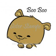SS0096 29 Boo Boo Peeking Animal Series 29 Sister Stamps 2015 Bear
