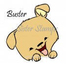 SS0094 29 Buster Peeking Animal Series 29 Sister Stamps 2015 Dog