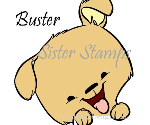 SS0094 29 Buster Peeking Animal Series 29 Sister Stamps 2015 Dog