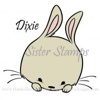 SS0092 29 Dixie Peeking Animals Series 29 Sister Stamps 2015 Rabbit