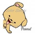 SS0093 29 Peanut Peeking Animals Series 29 Sister Stamps 2015 Dog www.HankoDesigns.com