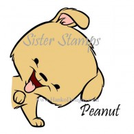 SS0093 29 Peanut Peeking Animals Series 29 Sister Stamps 2015 Dog www.HankoDesigns.com