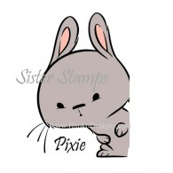 SS0091 29 Pixie Peek Animal Series Sister Stamps 29 2015 Rabbit www.HankoDesigns.com