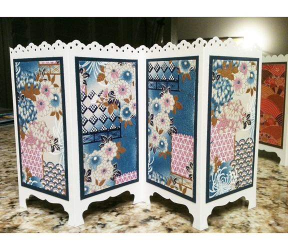 Mini Washi Screen June Kamigawachi Fresno Buddhist Church 2015