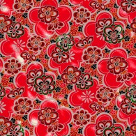 RKB8635 Red Retro Floral Washi 2016 - www.HankoDesigns.com