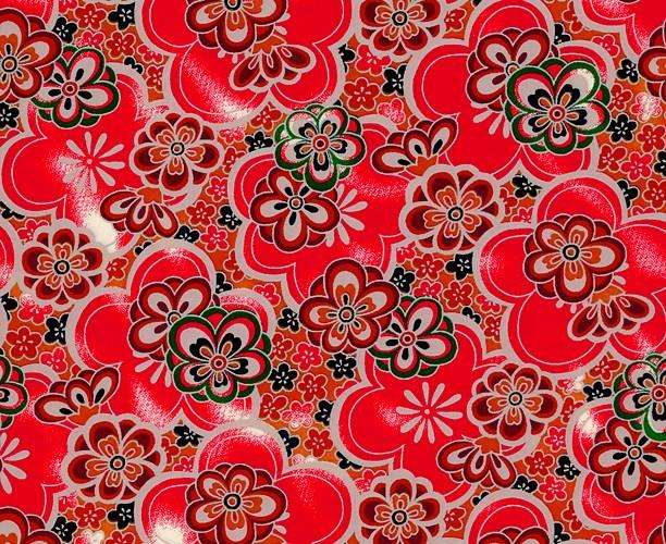 RKB8635 Red Retro Floral Washi 2016 - www.HankoDesigns.com
