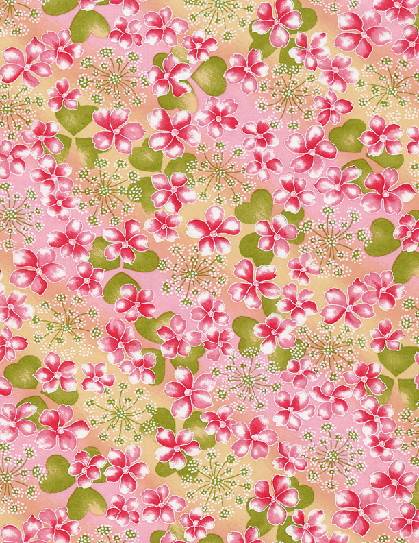 RTB7812 Pink Spring Floral Field Washi 2016 - www.HankoDesigns.com