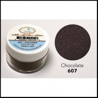 607 Chocolate Glitter Elizabeth Craft Designs Micro Fine Soft  www.HankoDesigns.com