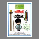 CL-12 Boys Day Dandelion Stamp - www.HankoDesigns.com CL12