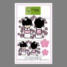 CL-18 Kokeshi Candy Dandelion Stamp - www.HankoDesigns.com CL18