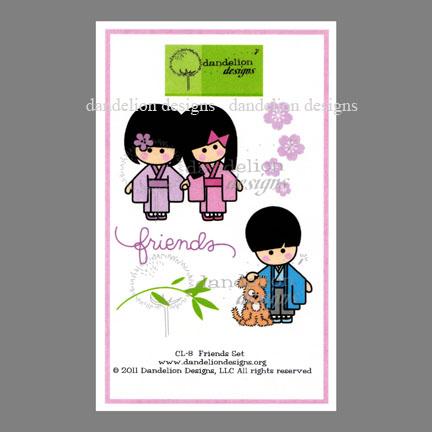 CL-8 Friends Dandelion Stamp www.HankoDesigns.com CL08